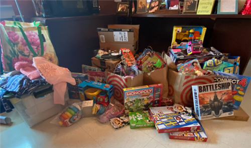 Toys gathered during PHS toy drive