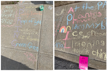 Sidewalk poetry