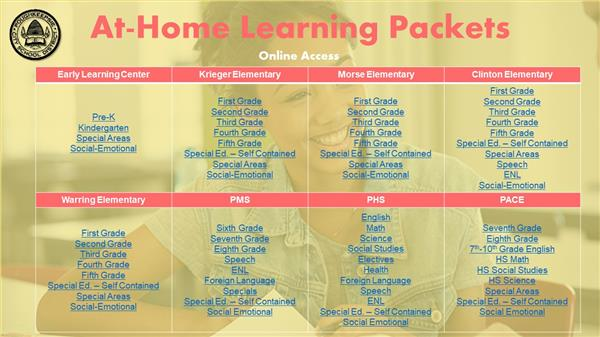 At-home learning packets