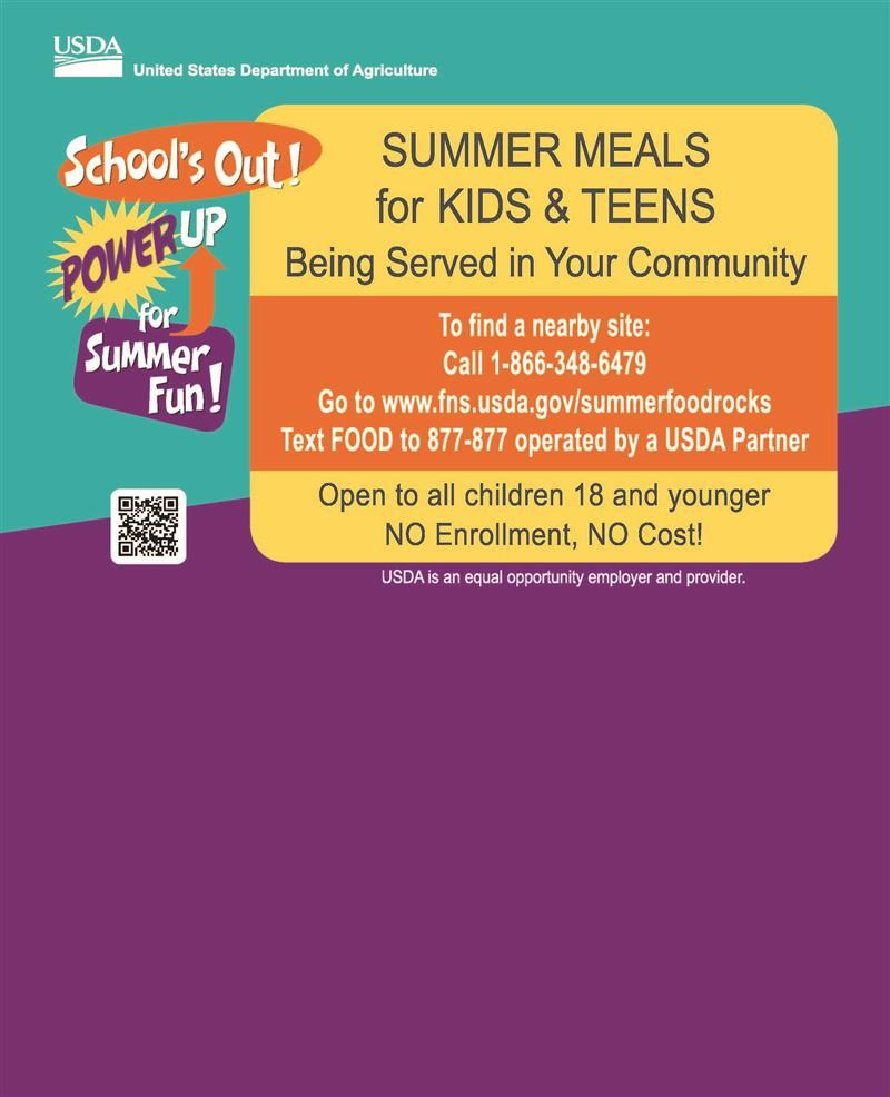 Summer Meals English
