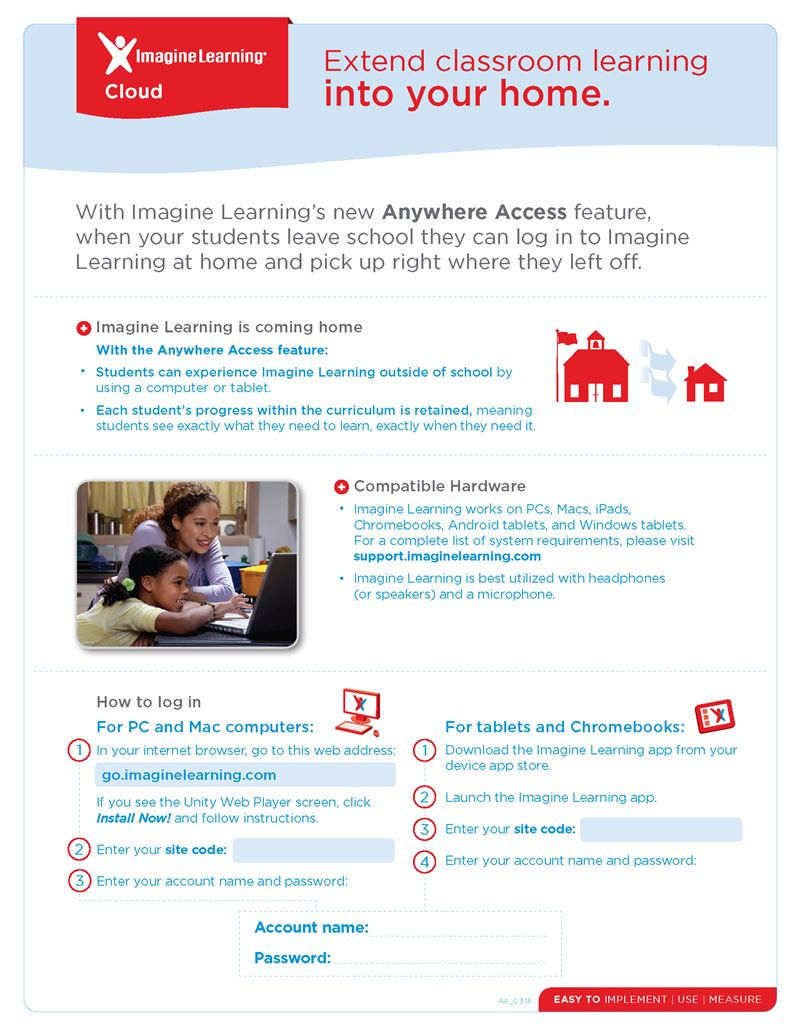Imagine Learning Anywhere Access