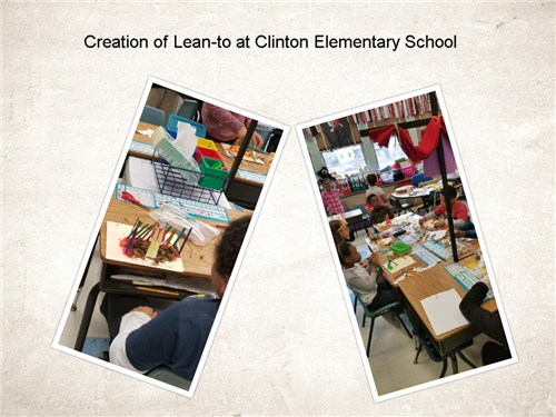 Creation of Lean-To at Clinton Elementary School