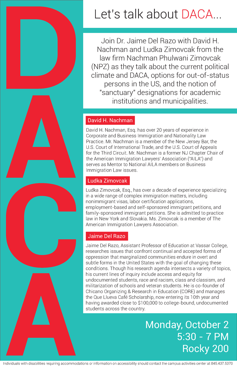 Vassar Talks About Daca
