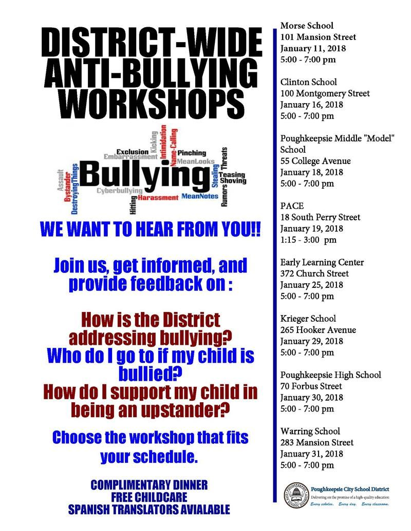 DISTRICT-WIDE ANTI-BULLYING WORKSHOPS