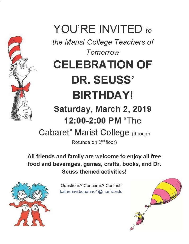 Dr. Seuss Celebration at Marist College