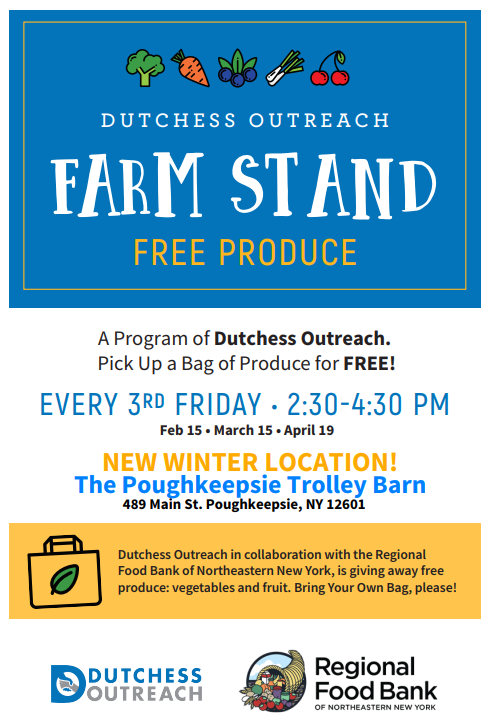 Dutchess County Outreach Free Farm Produce