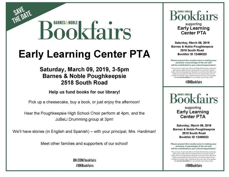 Barnes & Noble Book Fair, Early Learning Center PTA