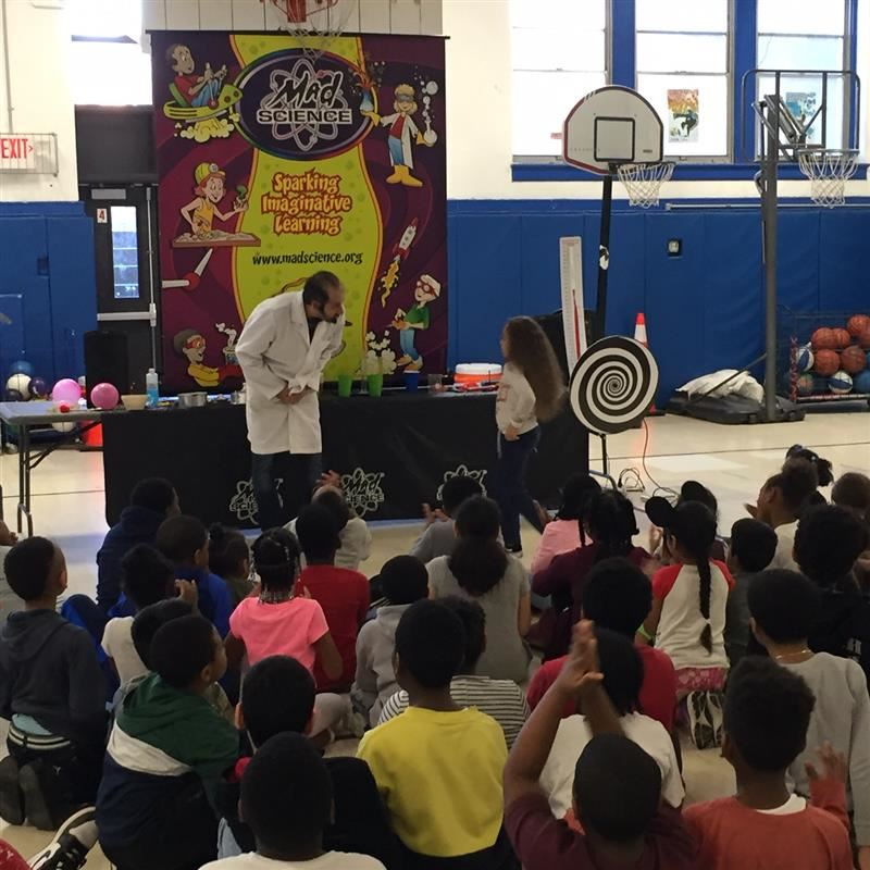 Extended Learning Time After School Program at Clinton School.  Community-Based Organization Boys and Girls Club of Newburgh hosts The Mad Scientist.