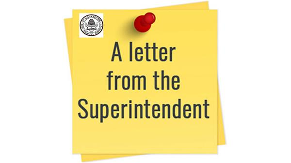 A Letter from the Superintendent/Una Carta del Superintendente - 10-1-20