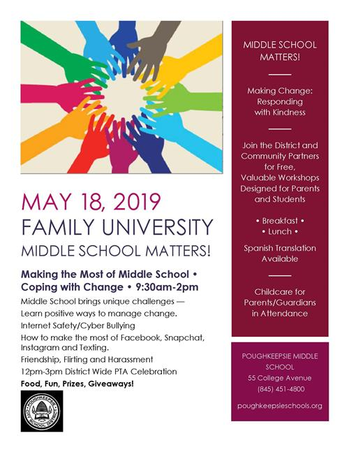 Family University, Middle School Matters