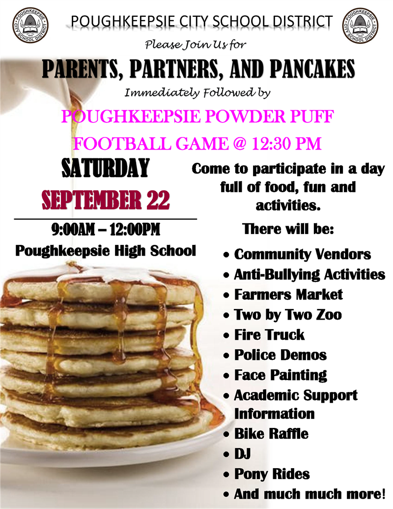 Come and participate in a day full of food, fun & activities on Saturday, 9/22 from 9AM-12PM at PHS.