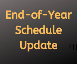 Poughkeepsie Middle School End of Year Schedule
