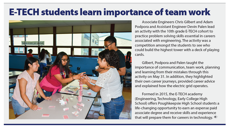 E-tech Students Learn Importance of Team Work
