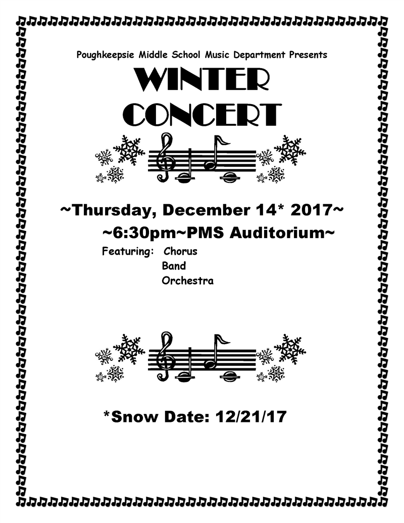 "Poughkeepsie Middle ""Model"" School Winter Concert"
